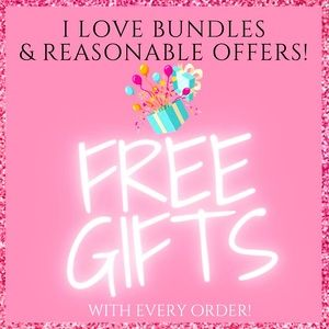 FREE GIFTS WITH EVERY ORDER! BUNDLE & SAVE!